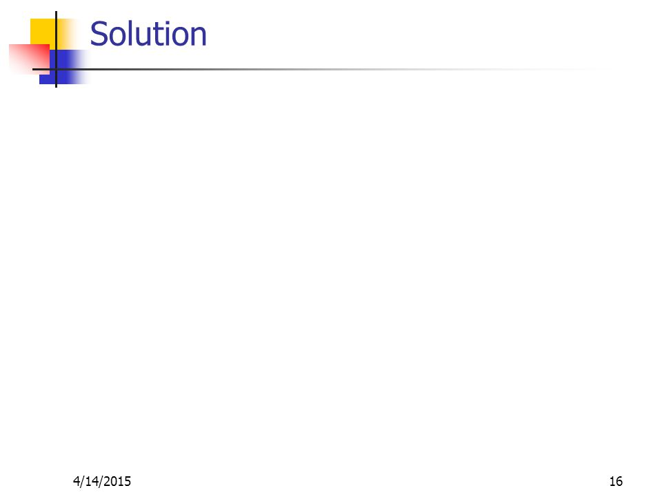 Solution 4/14/201516