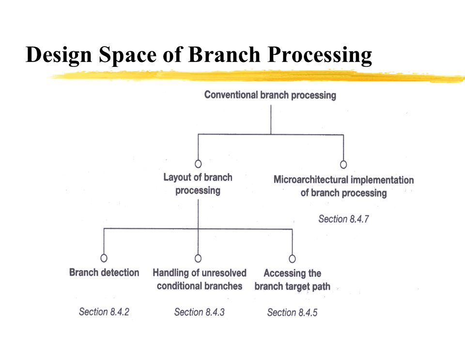 Design Space of Branch Processing
