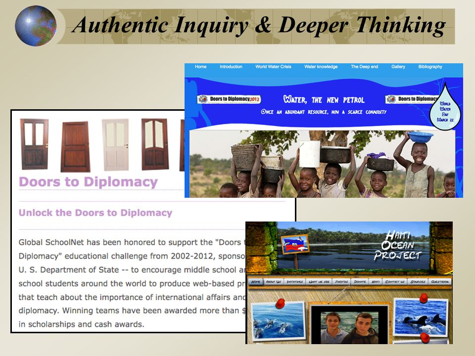 Authentic Inquiry & Deeper Thinking