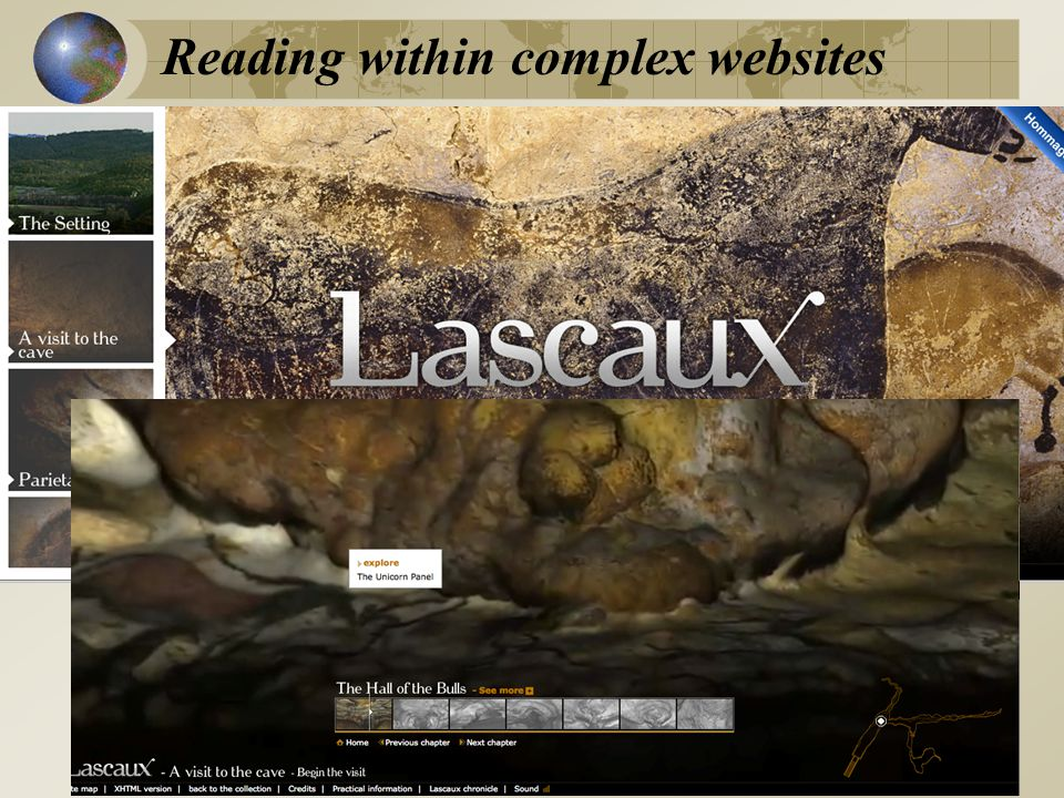 Reading within complex websites