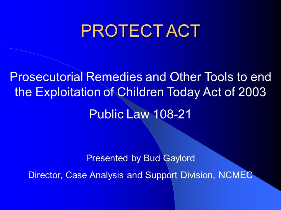 NCMEC Pilot Program Update National Center for Missing & Exploited Children Background Check Unit