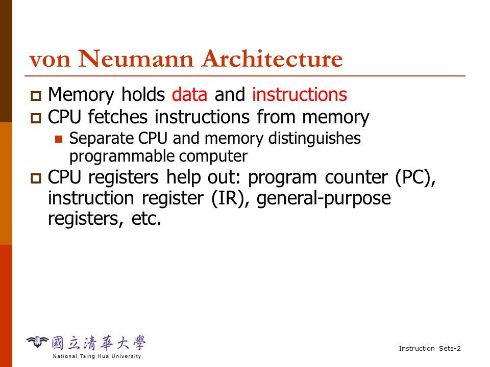 Instruction Sets-1 Outline  Computer Architecture Introduction  ARM Processor  SHARC Processor