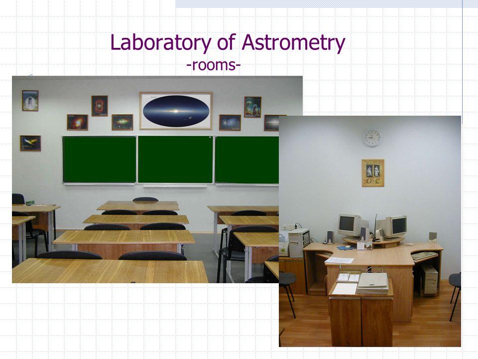 Laboratory of Astrometry -rooms-
