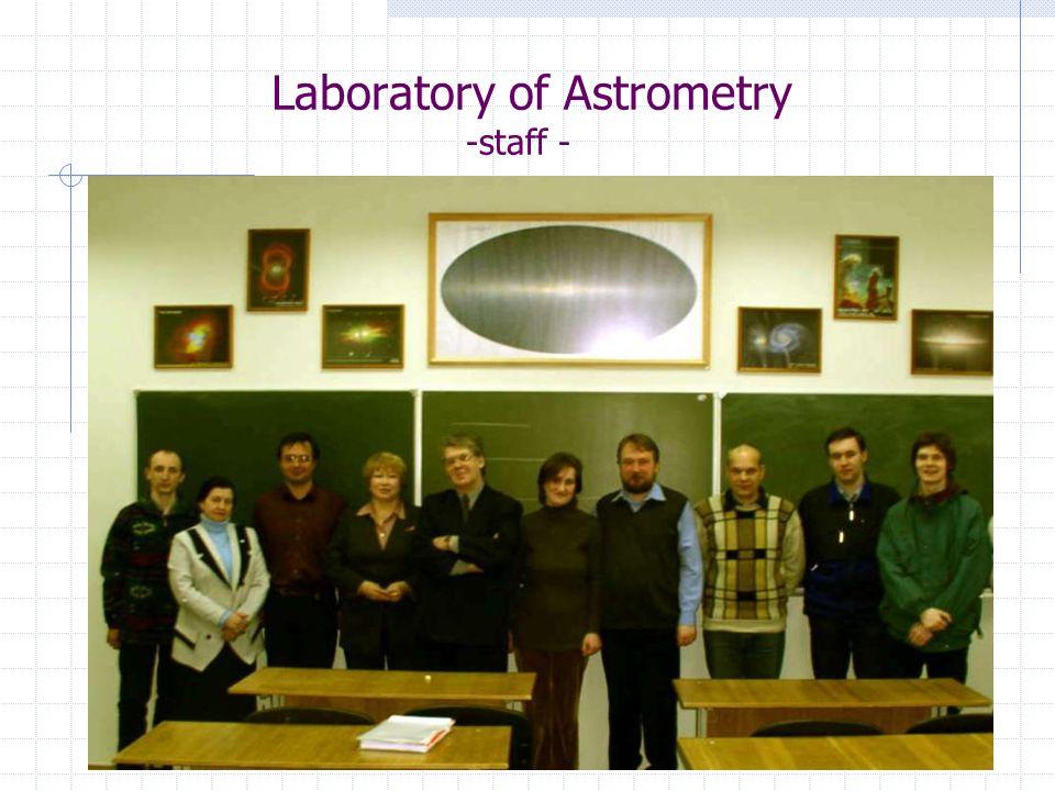 Laboratory of Astrometry -new telescope- Clear aperture...........................................…305 mm (12 ) Focal length.............................................…3048 mm Optical design..............................................Schmidt-Cassegrain