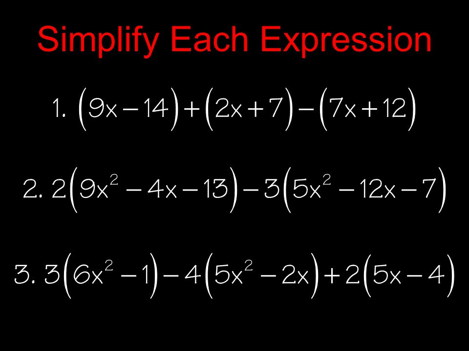 Multiplying Polynomials 1.Follow all rules for exponents 2.FOIL Method for multiplying binomials 3.Use Distributive Property for all others 4.Use special products when applicable 5.Combine all like terms 6.Write your answer in standard form