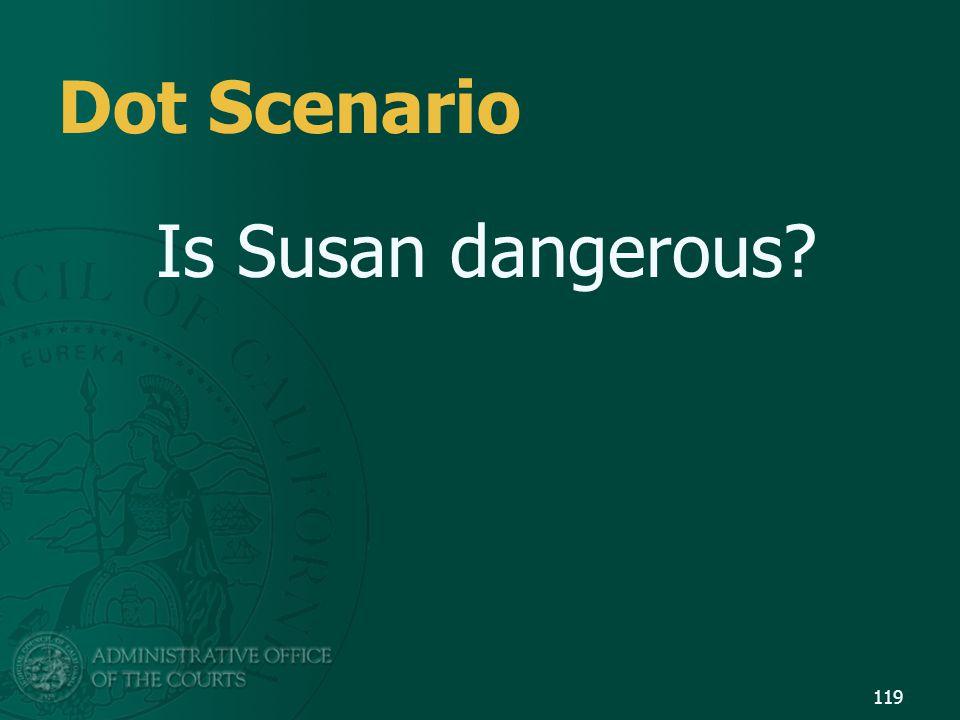 119 Dot Scenario Is Susan dangerous?