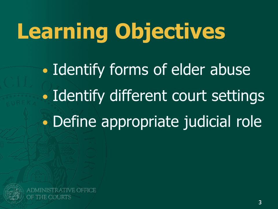 Model Programs Remove barriers and enhance linkage to social and legal services Case management for guardianship cases Counseling for elders with legal and social issues, assistance with orders of protection 64