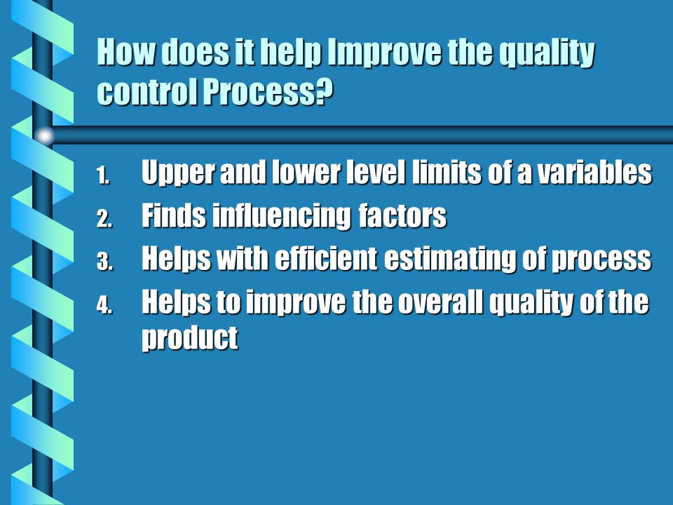 How does it help Improve the quality control Process.