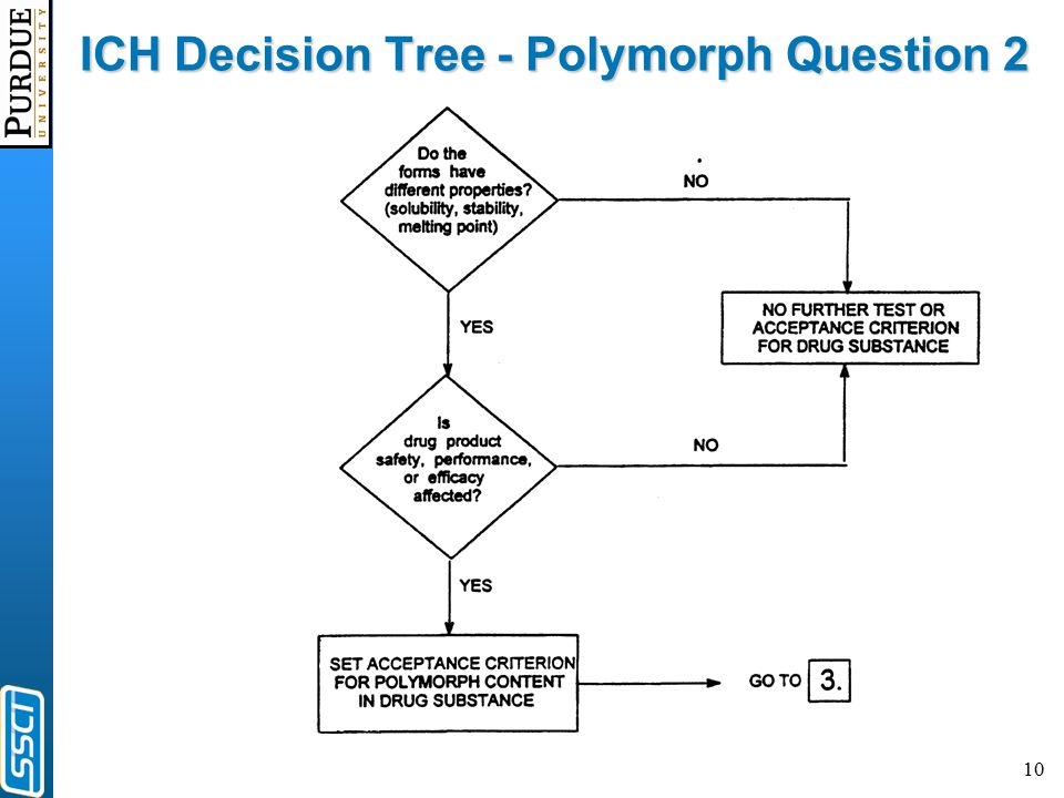 10 ICH Decision Tree - Polymorph Question 2