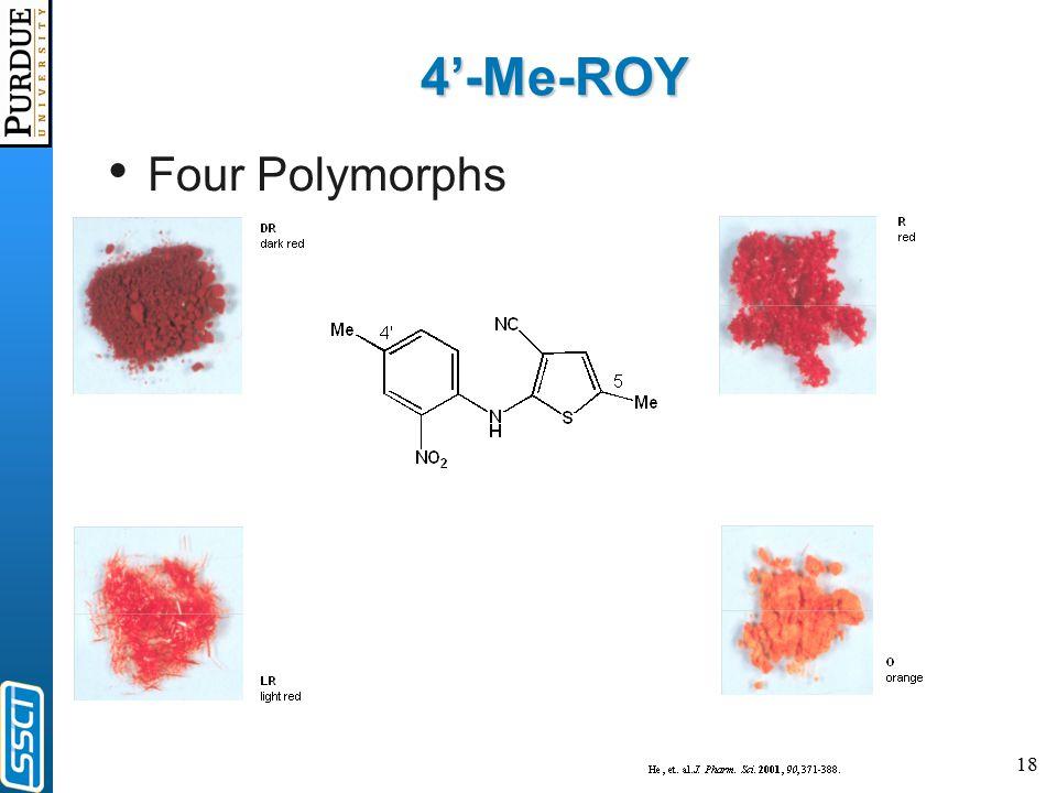 18 4'-Me-ROY Four Polymorphs