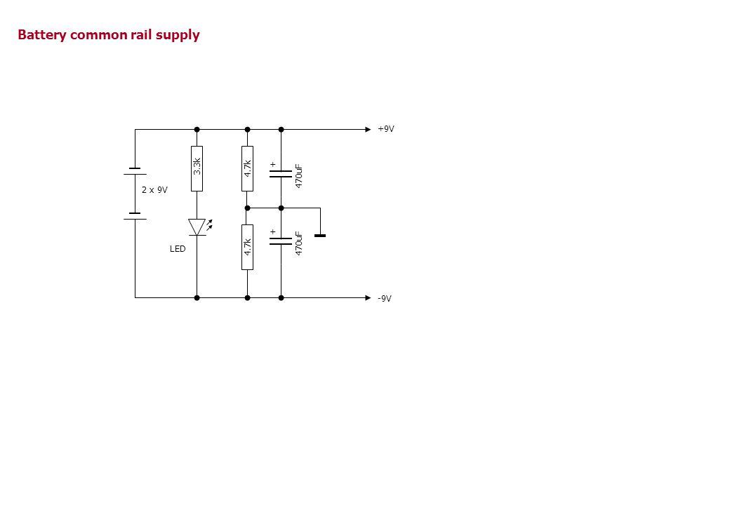 27 - + 620k470k 10k 0.47u In Out R3R4 R2 R5* C1 U1 OPA132 2 3 7 4 6 V+ V- g = R4 R3 *) R5 opt., 27..