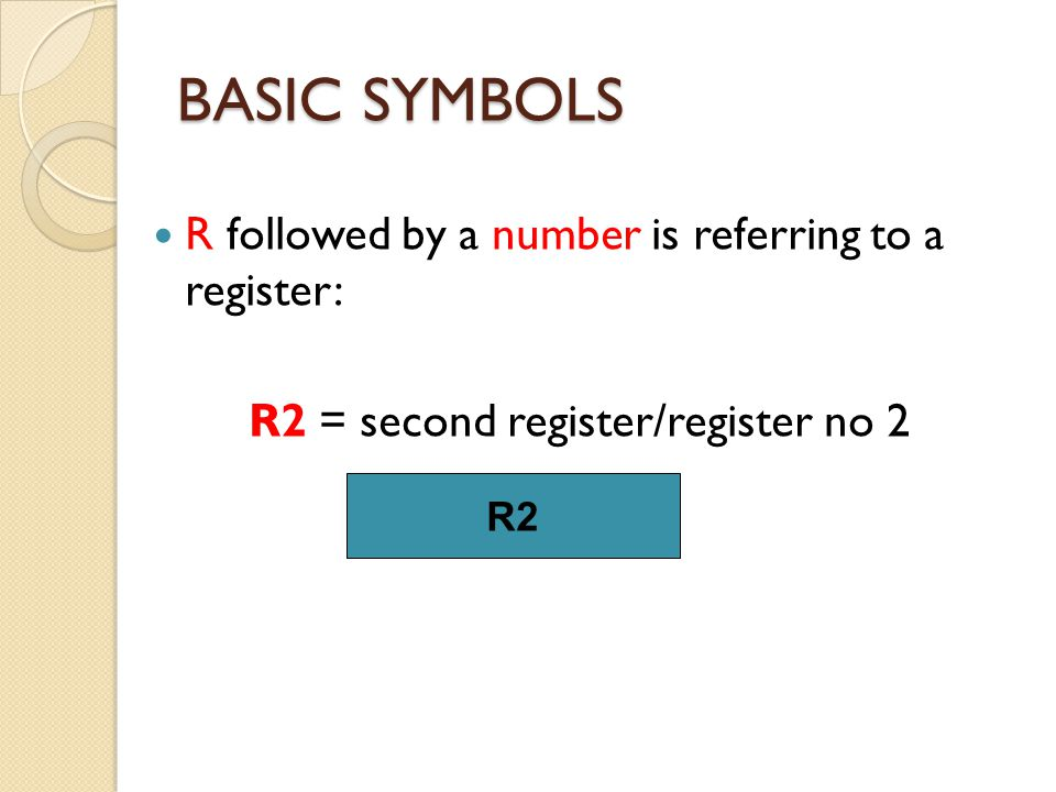 CONDITIONAL REGISTER TRANSFER R2 R1 K1K1 CLK n K1K1 Transfer occurs here n = no of lines = no of bits Transfer occurs in parallel K 1 : R2 R1 Register Transfer Load control input