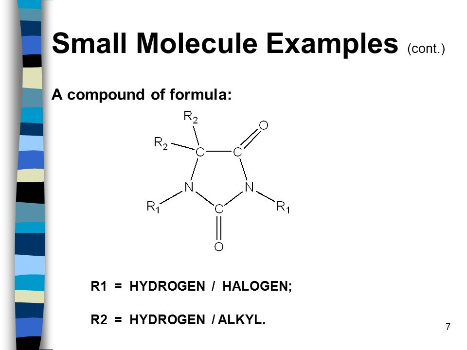 18 Search Strategy (cont.) R1 = HYDROGEN / HALOGEN R2 = HYDROGEN / ALKYL Simple structure