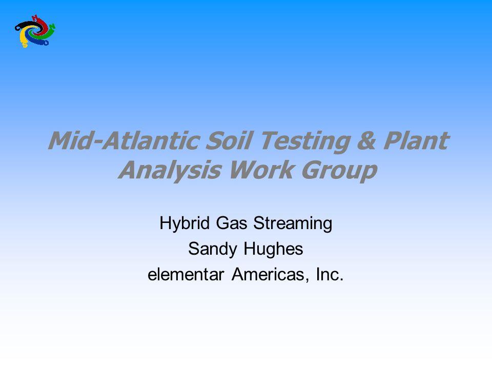 Mid-Atlantic Soil Testing & Plant Analysis Work Group Hybrid Gas Streaming Sandy Hughes elementar Americas, Inc.
