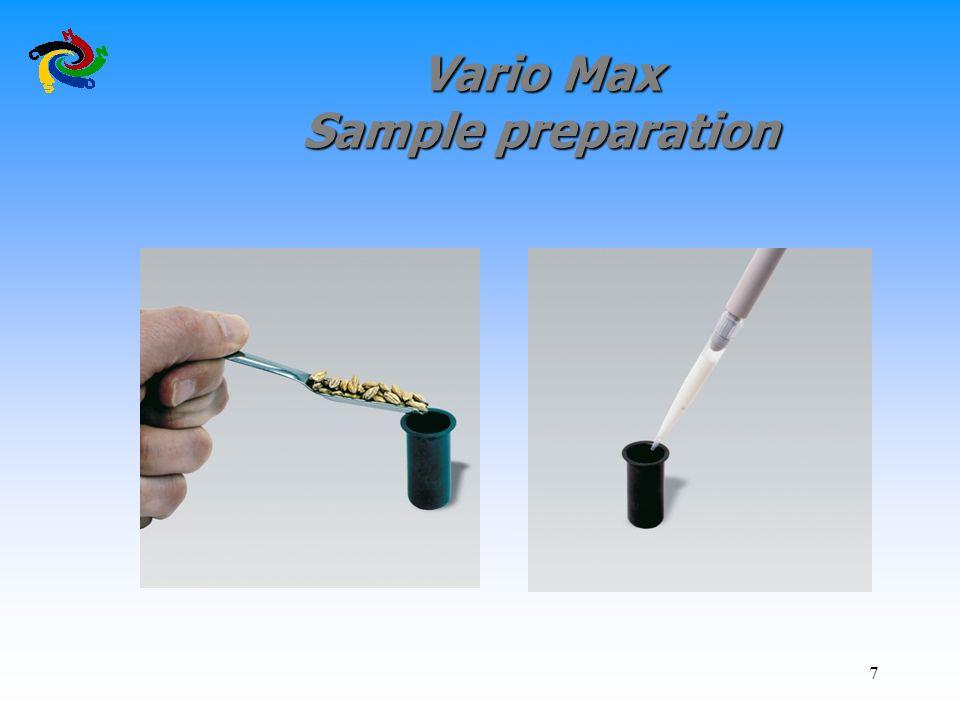 7 Vario Max Sample preparation