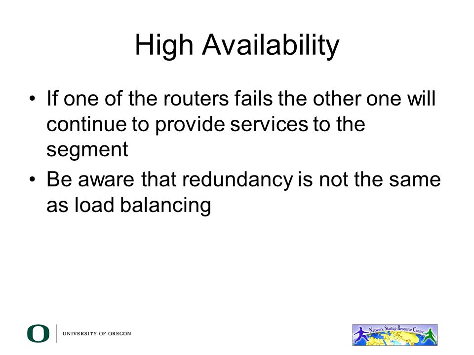 So I built all this redundancy and high availability in my network, how can my end users take advantage of it? You are already providing more that one