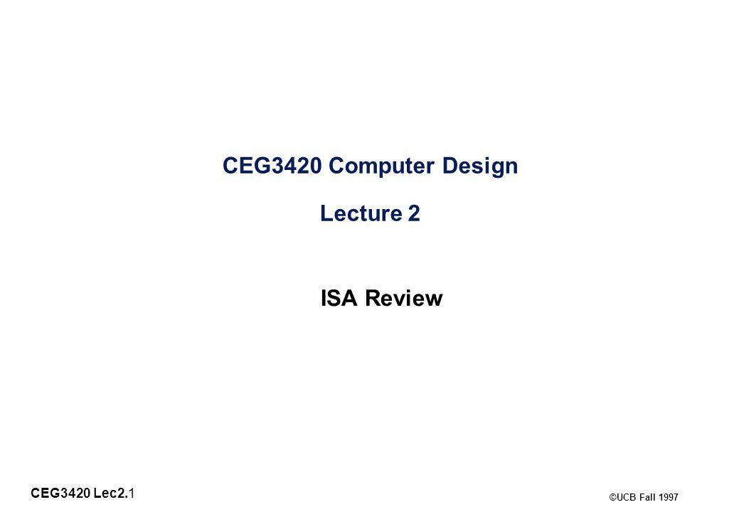 CEG3420 Lec2.12 ©UCB Fall 1997 Displacement Address Size.