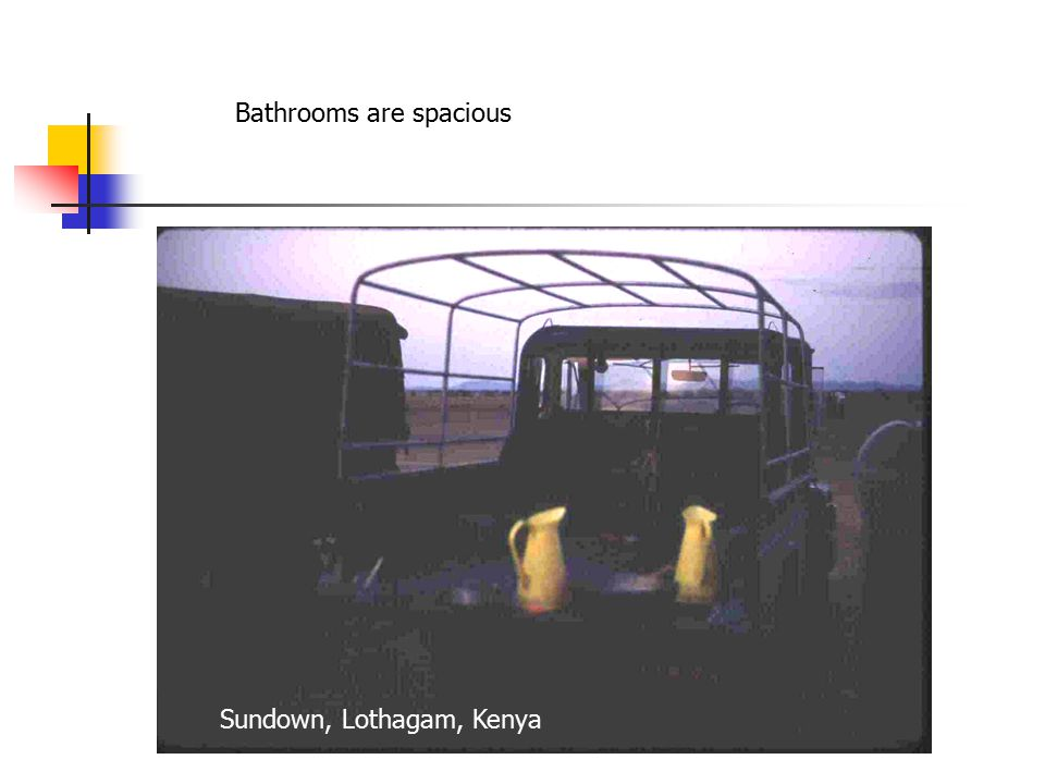 Bathrooms are spacious Sundown, Lothagam, Kenya