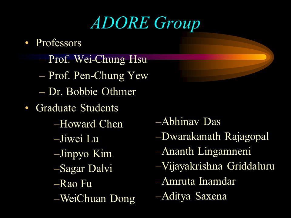 ADORE Group Professors –Prof. Wei-Chung Hsu –Prof.