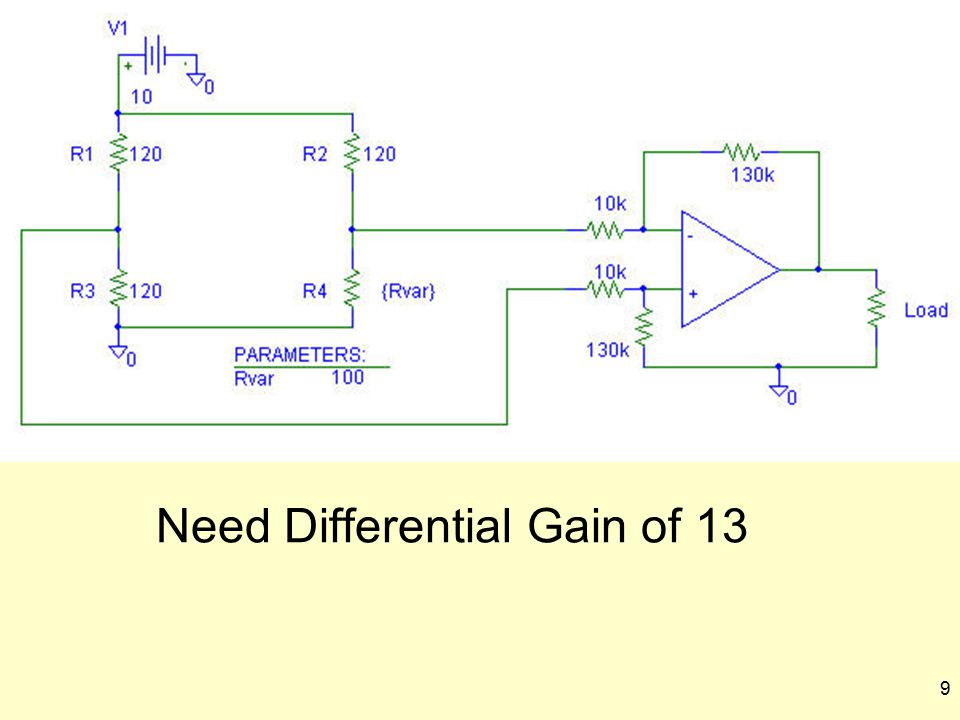 9 Need Differential Gain of 13