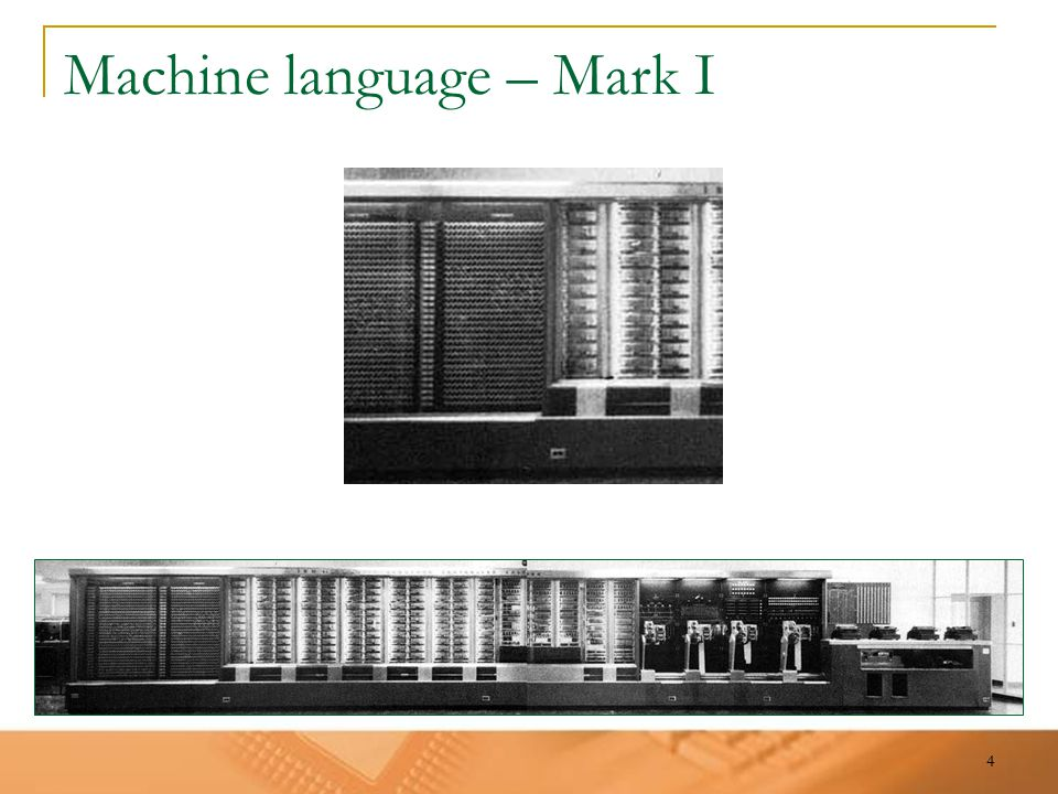 4 Machine language – Mark I