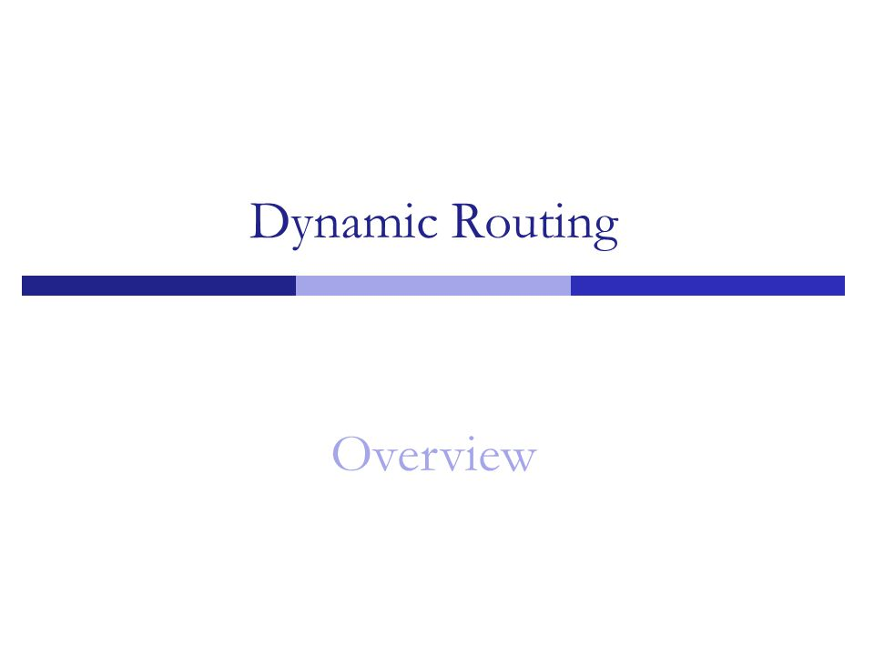Dynamic Routing Overview