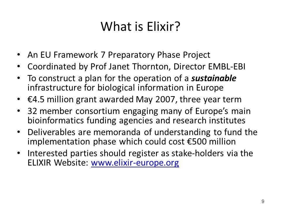 9 What is Elixir.