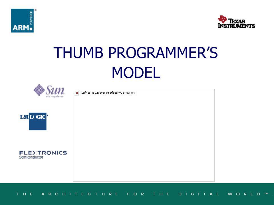 THUMB PROGRAMMER'S MODEL