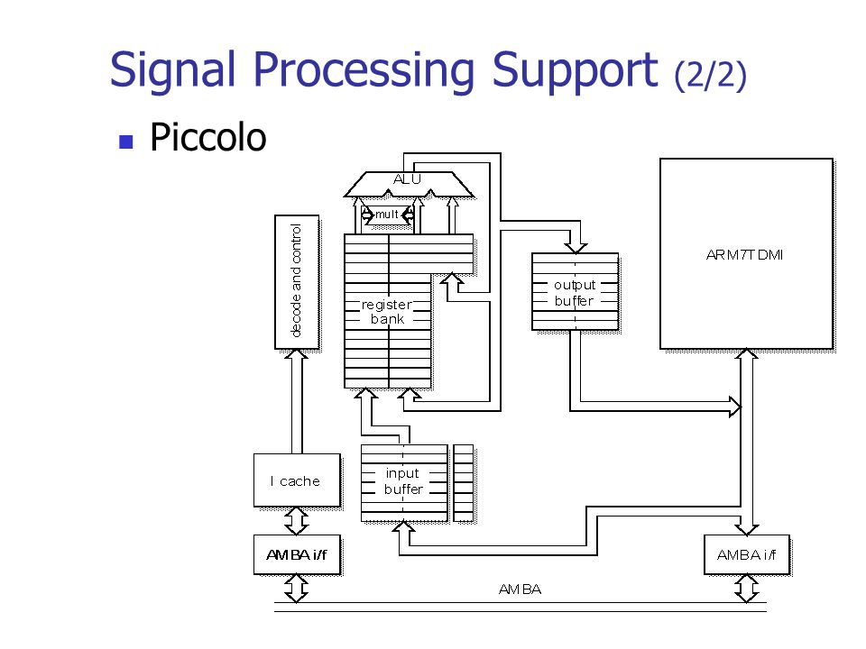 Signal Processing Support (2/2) Piccolo