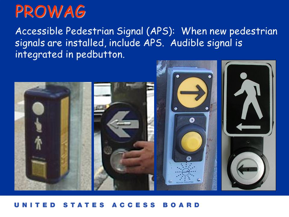 PROWAG Detectable warnings are required at medians.