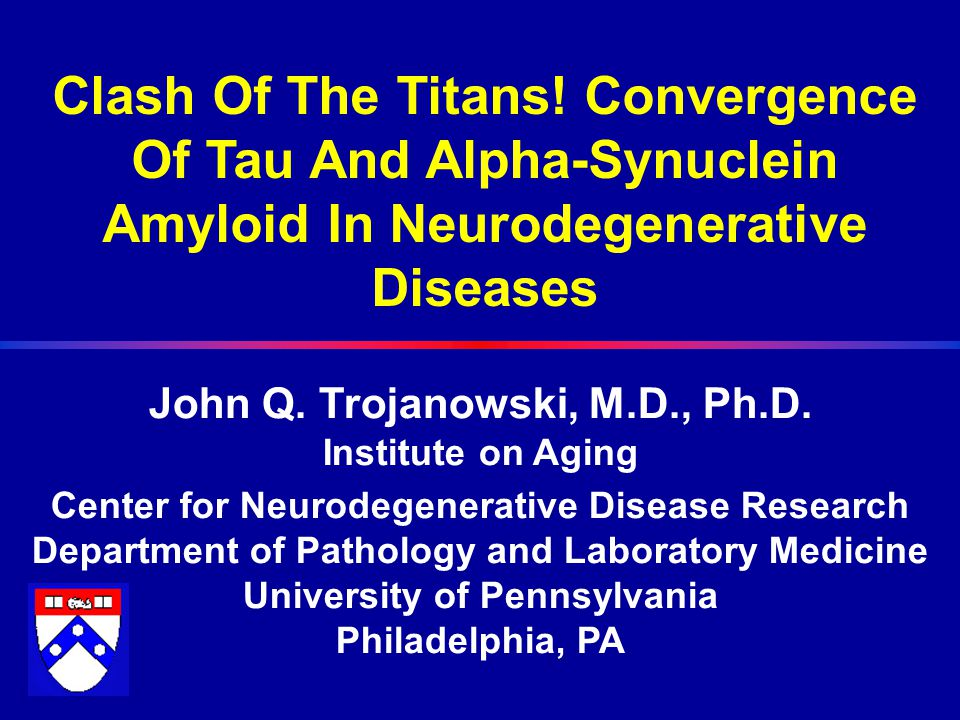 Neurodegenerative Diseases Characterized by Brain Amyloidosis Disease Lesions Components Parkinson's Disease LBs  -Synuclein Dementia with Lewy Bodies LBs  -Synuclein Multiple System Atrophy GCIs  -Synuclein Alzheimer's Disease SPs Aβ (Most common synucleinopathy!) NFTs Tau LBs α-Synuclein Prion diseases SPs Prions Tauopathies NFTs Tau Trinucleotide Inclusions Expanded Repeat Expansion PolyQ tracts