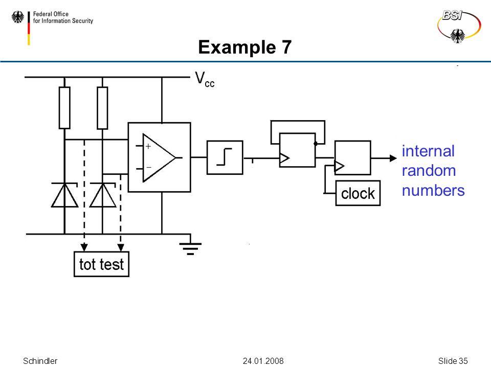Schindler24.01.2008Slide 35 Example 7 internal random numbers