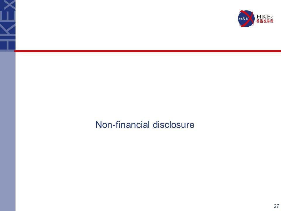 27 Non-financial disclosure