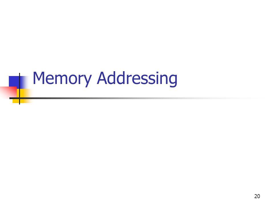 20 Memory Addressing