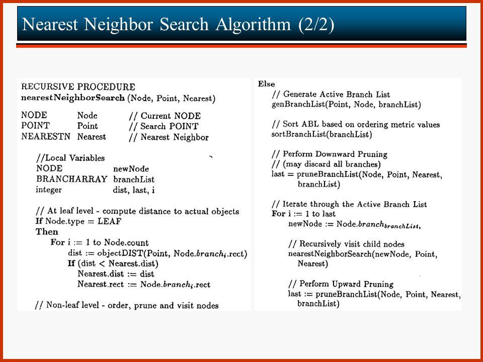 Nearest Neighbor Search Algorithm (2/2)