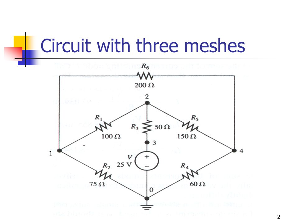 2 Circuit with three meshes 1