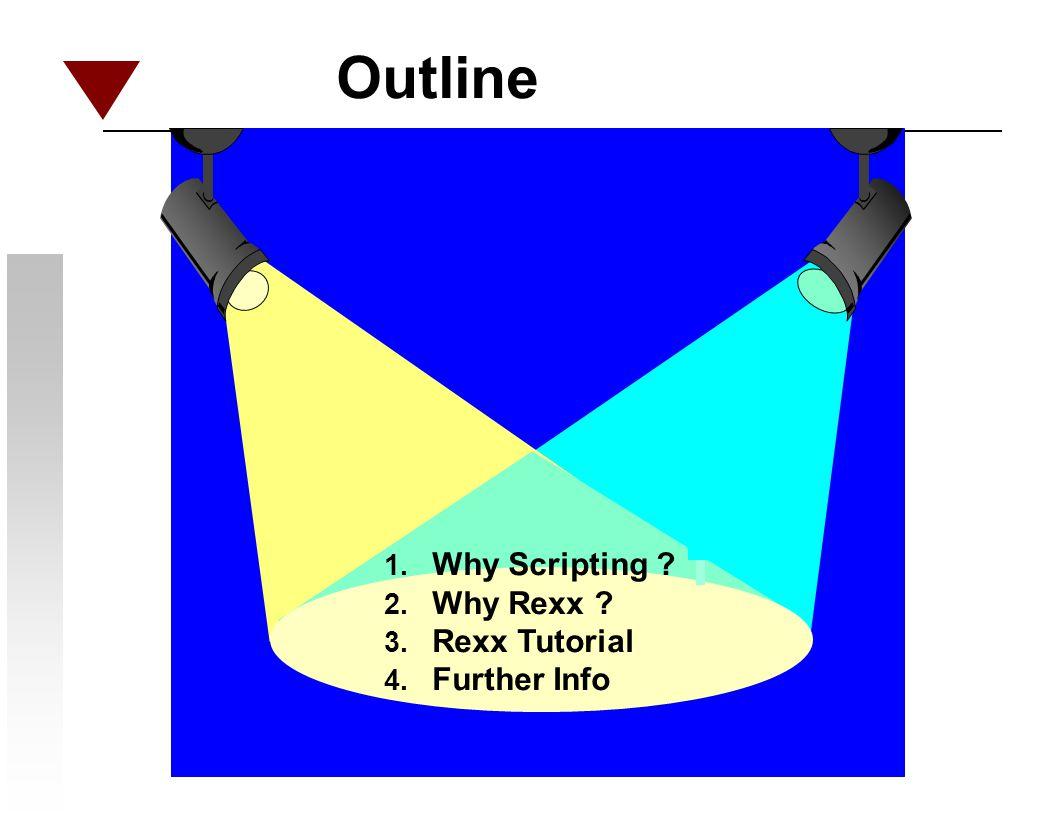 I. Why Scripting ?