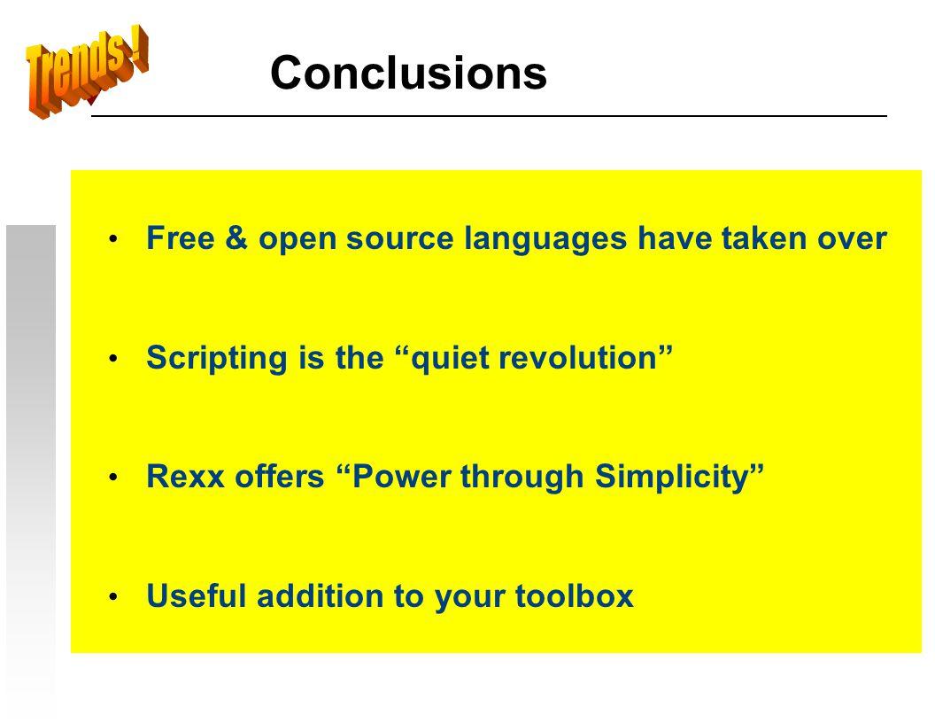 Resources INTERPRETER:DOWNLOAD: Regina http://regina-rexx.sourceforge.net BRexx http://bnv.home.cern.ch/bnv/ Reginald http://www.borg.com/~jglatt/rexx/rexxuser.htm Rexx/imc http://users.comlab.ox.ac.uk/ian.collier/Rexx/rexximc.html Rexx for Palm OS http://www.jaxo.com/rexx/ r4 http://www.kilowattsoftware.com/ roo.