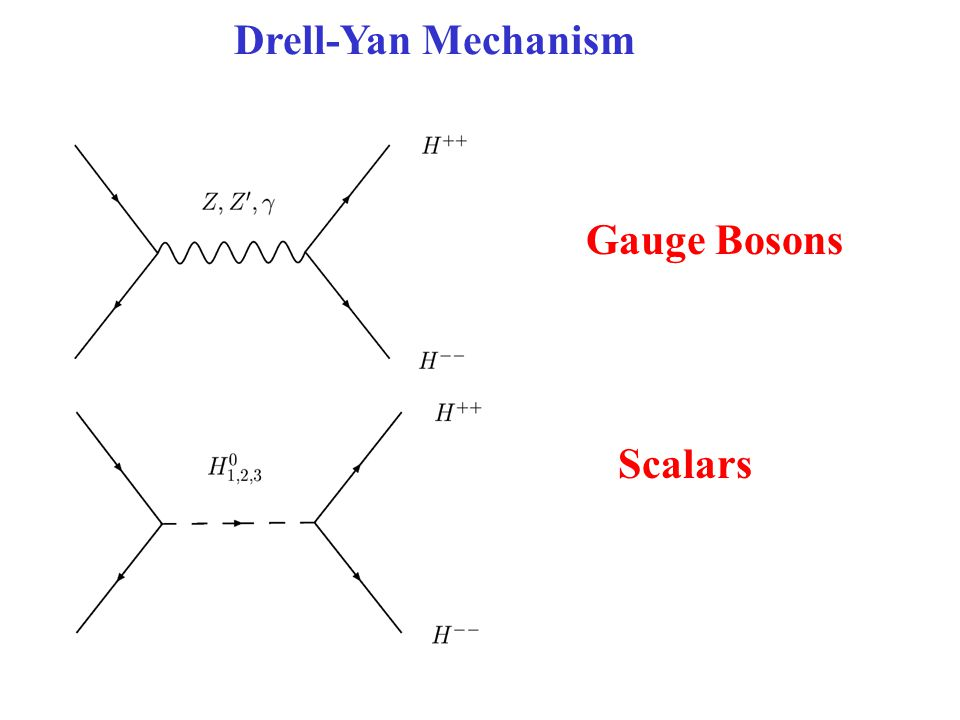 Drell-Yan Mechanism Gauge Bosons Scalars