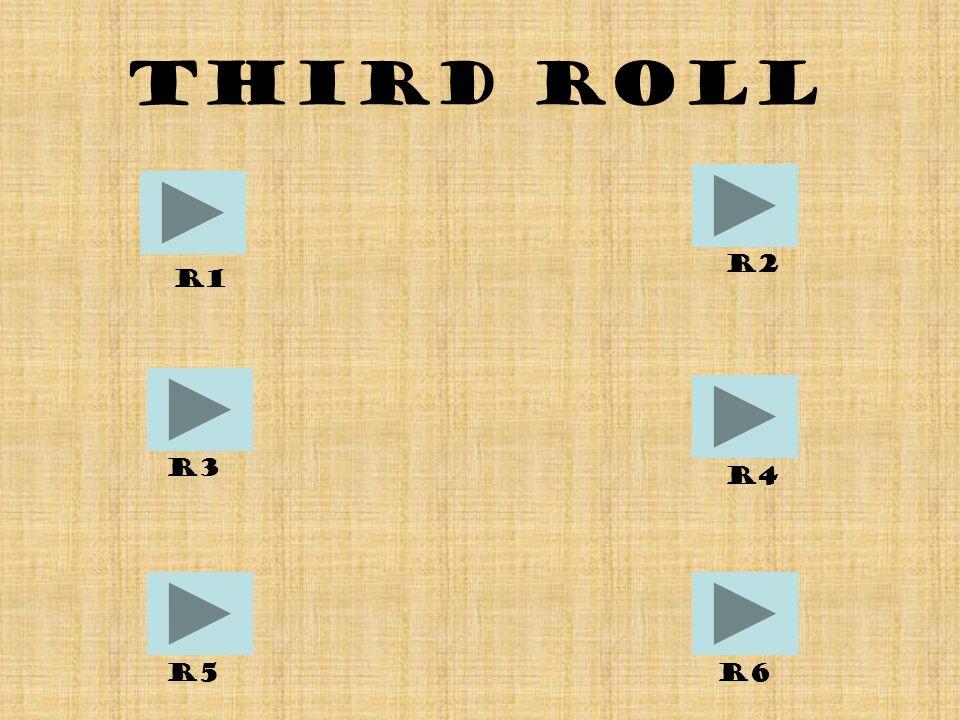 Third Roll R1 R6R5 R4 R2 R3