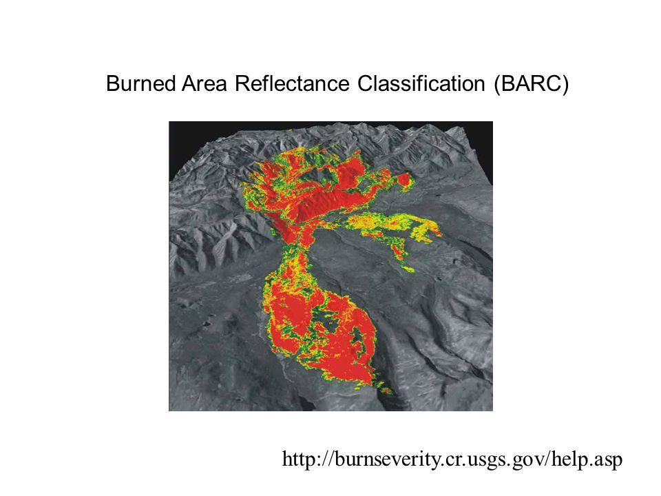 Burned Area Reflectance Classification (BARC) http://burnseverity.cr.usgs.gov/help.asp