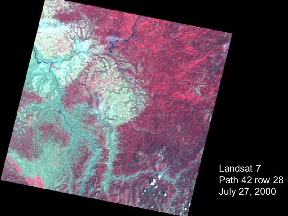 Landsat 7 Path 42 row 28 July 27, 2000