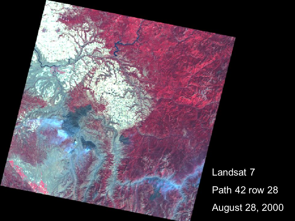 Landsat 7 Path 42 row 28 August 28, 2000