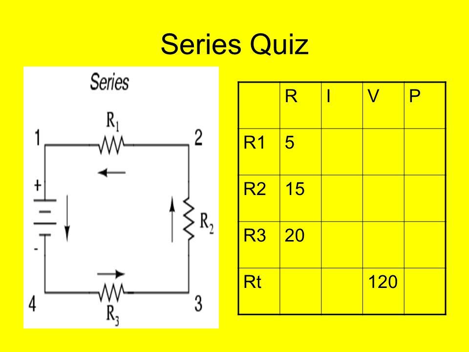 Series Quiz RIVP R15 R215 R320 Rt120