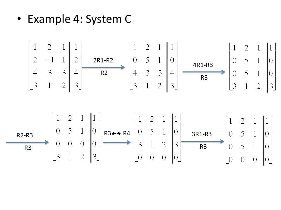 Example 4: System C 2R1-R2 R2 4R1-R3 R3 R2-R3 R3 R3  R4 3R1-R3 R3