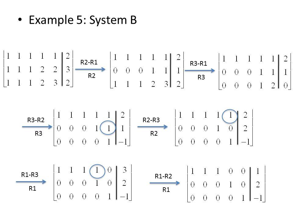 Example 5: System B R2-R1 R2 R3-R1 R3 R3-R2 R3 R2-R3 R2 R1-R3 R1 R1-R2 R1