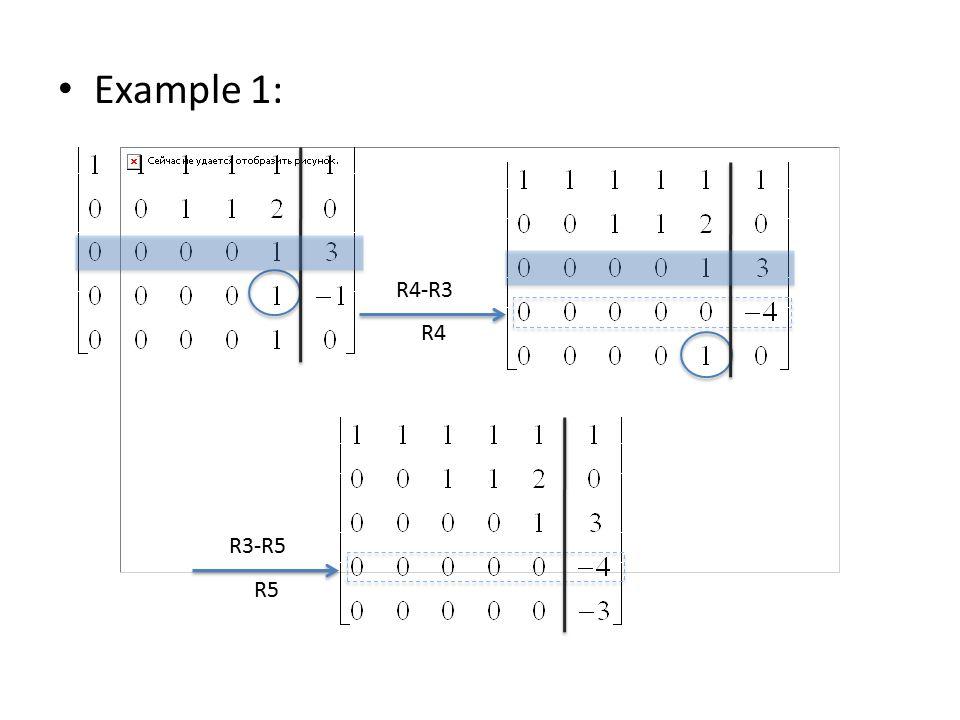 Example 1: R4-R3 R4 R3-R5 R5
