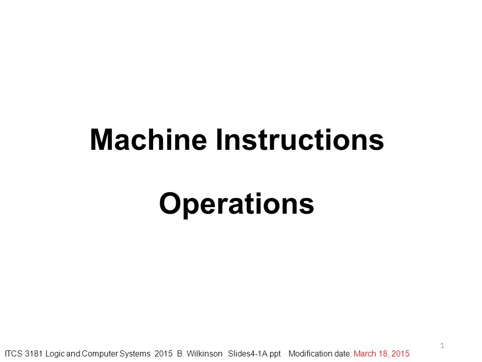 2 Instructions We will use a simple instruction formats of a so-called reduced instruction set computer (RISC), which has the characteristics: Simple, fixed length instruction format A few addressing modes Limited number of operations Designed to achieve high speed of execution It was recognized in the 1980's that such processors would actually execute programs faster that the prevalent CISCs (complex instruction set computers).