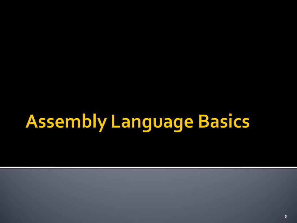  Mnemonics (LD/ADD instead of Load/Add) used when programming specific computers  The mnemonics represent the OP codes  Assembly language is the set of mnemonics and rules for using them to write programs  The rules constitute the language syntax  Example: suffix 'I' to specify immediate mode ADDI R2, R3, 5 (instead of #5) 29
