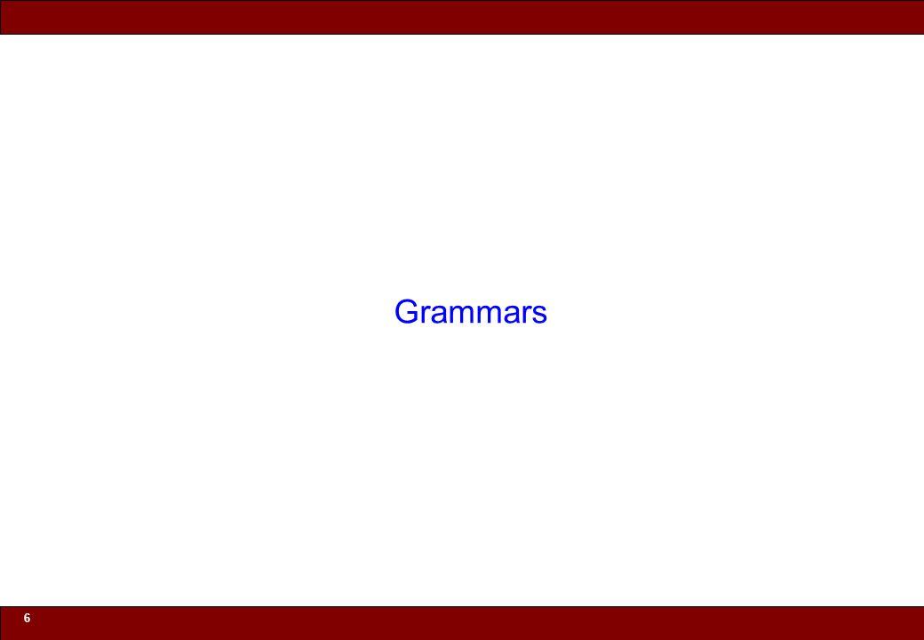 © 2010 Noah Mendelsohn 6 Grammars